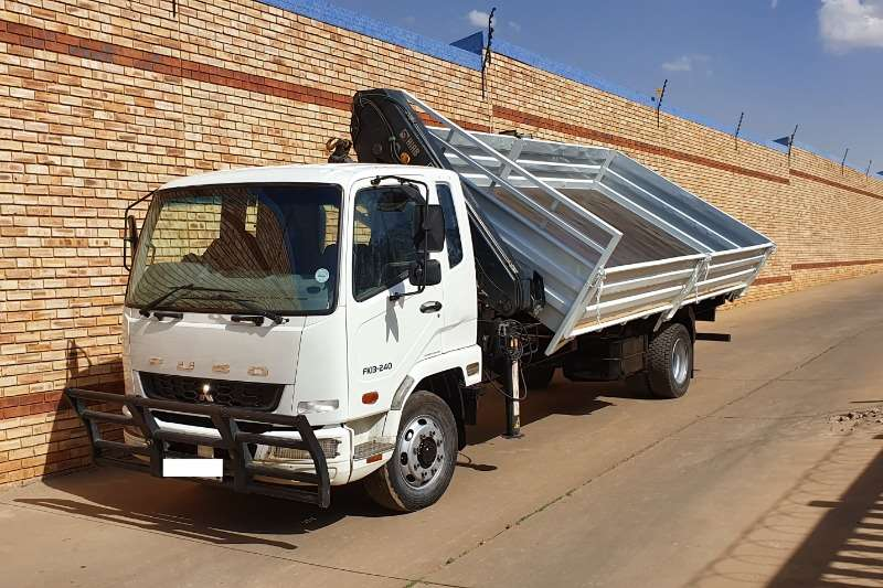 Fuso Truck Tipping body 13 240,WITH HIAB X CL12,12 TON CRANE & TIPPER BODY 2015