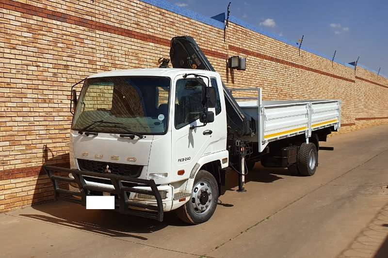 Fuso Truck Tipping body 3 240,FITTED WITH HIAB X CL12,2 TON/METRE CRANE,AN 2015