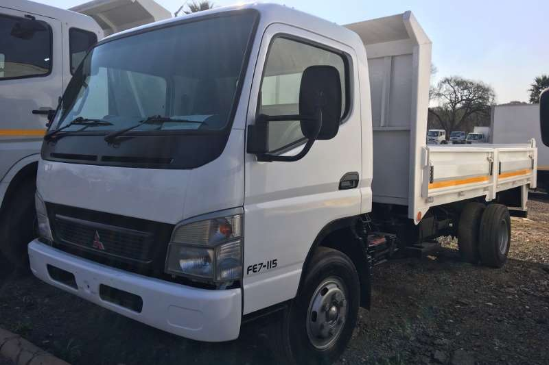 Fuso Truck Tipping Body Canter FE7-115 Tipping Body + Dropside Doors 2009