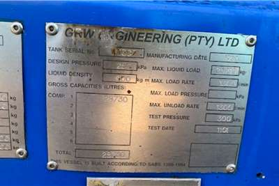 GRW Oil claded tanker Semi and Pup 39 000 Litre Tanker Trailer Trailers
