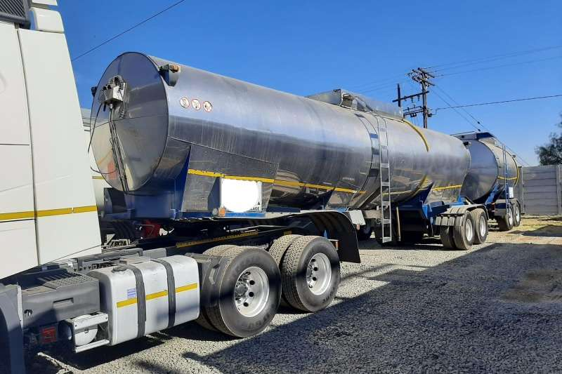 GRW Trailers Stainless steel tank 35 000lt GRW Tanker & Pup Combination 2002