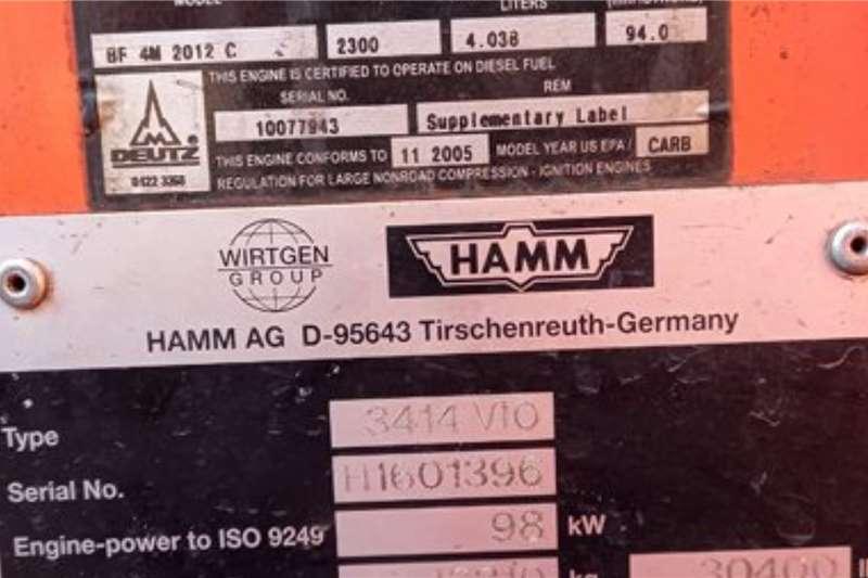 Hamm 3414 VIO Vibratory Smooth Drum Roller Roller