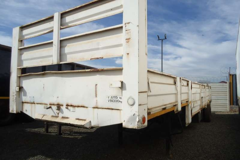 Hartland Trailers Stepdeck SINGLE AXLE STEPDECK DROPSIDE TRAILER 1980