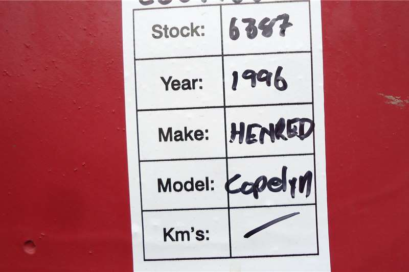 Hendred Trailers Copelyn 18 CUB COPELYN HENRED CSS775GP 1996