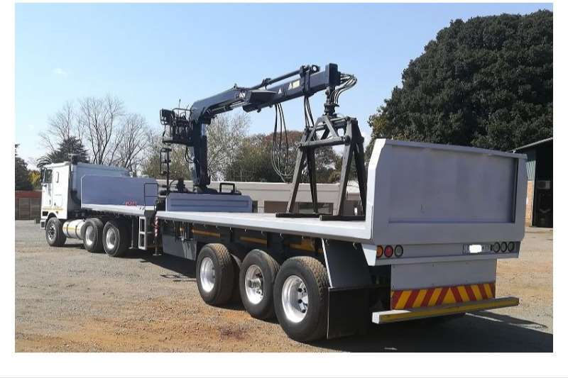 Henred Trailers Brick trailer the Crane Can Be Sold Separately And 2004