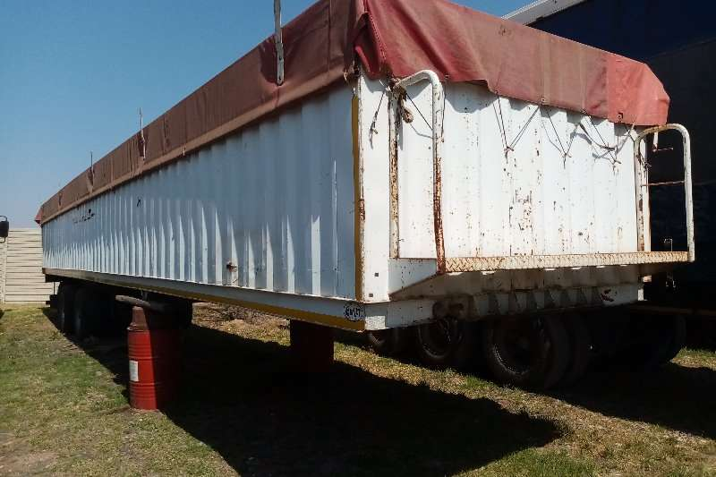 Henred Trailers Tri-Axle Hendred Fruehauf, Semi Trailer 1988