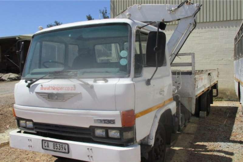 Hino Crane trucks 10 136 DROPSIDE WITH CRANE 1982
