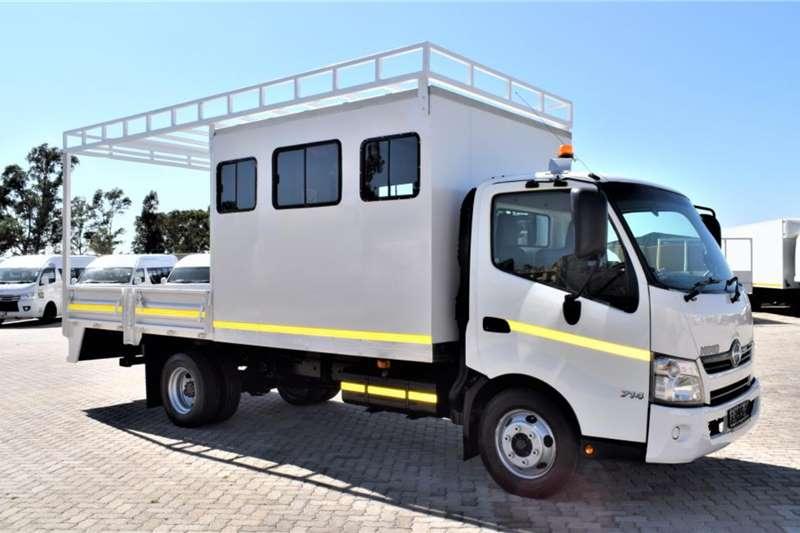 Hino Dropside trucks 300 Series 714(12 seats crew cab+Drop side) 2017