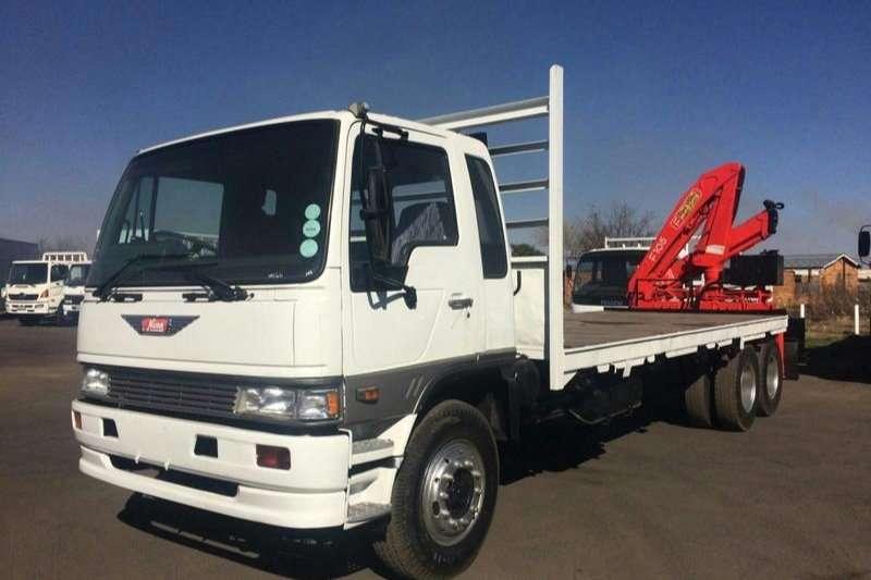 Hino Flatbed trucks HINO 16 177 FLATBED RANGER WITH CRANE 1996