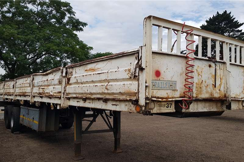 Inline Trailers Double axle 12.5m Dropside, Container Locks 2000