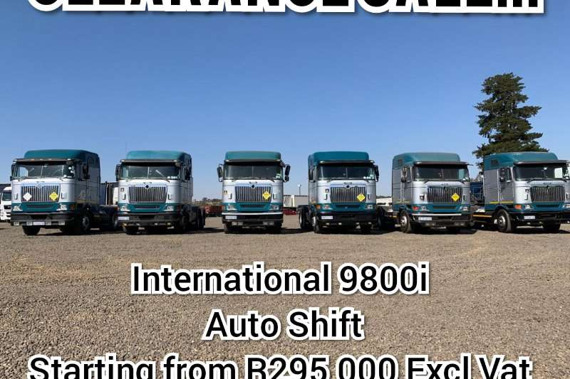 International Truck-Tractor Double axle CLEARANCE SALE ON INTERNATIONAL 9800I AUTO SHIFT