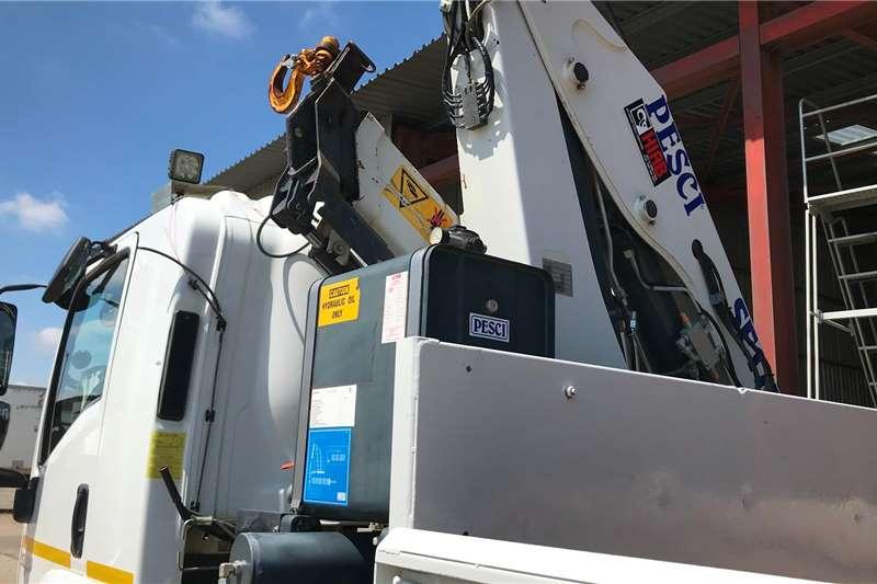 Isuzu 2016 Isuzu FTR850 dropside fitted with 17.5T Pesci Crane trucks