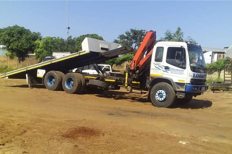 Isuzu Rollback trucks FVZ 1400 (12 TON) ROLLBACK & PALFINGER 12000 CRANE 2003