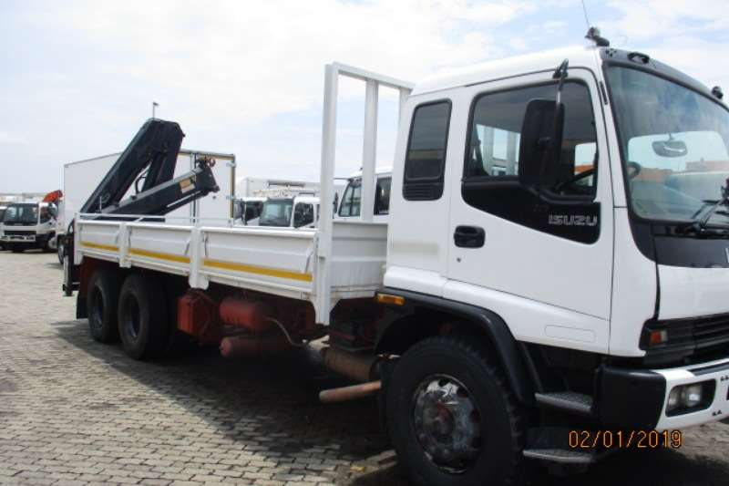 Isuzu Truck Crane truck ISUZU FVZ1400 DROPSIDE WITH HIAB 166XS REAR CRANE 2008
