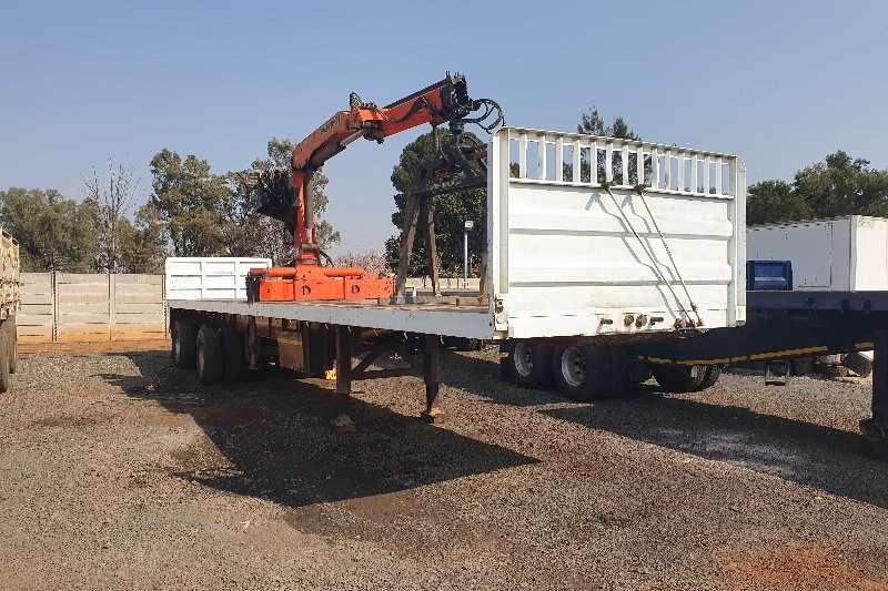 La Mon Trailers Brick trailer 13.5M + Palfinger PK12 000 + grab + rotator 2006