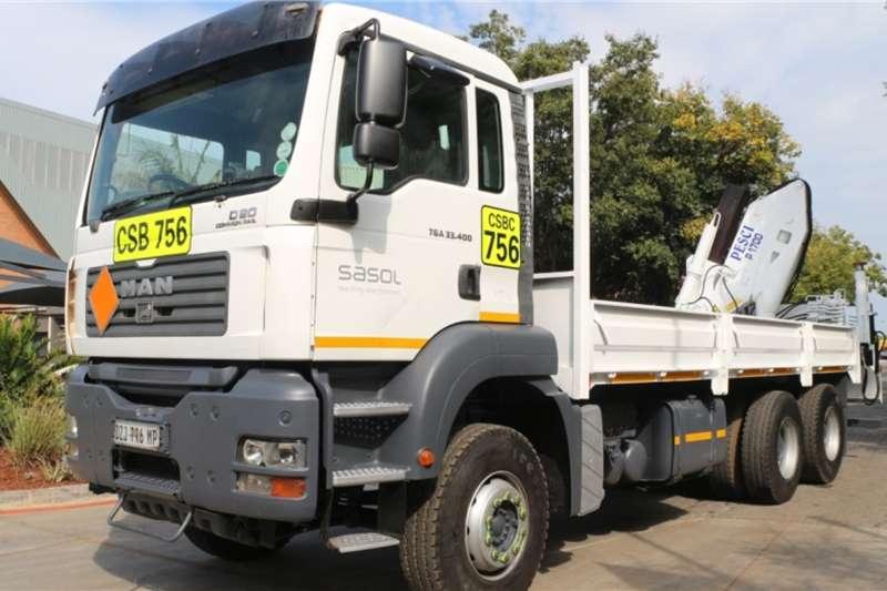 MAN Truck TGA33.400BB 6x4 Dropside Crane Truck 2009