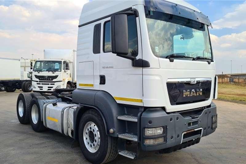 MAN Double axle 2014 MAN TGS26.440 6x4 T/T, FSH, Aluminium Rims Truck tractors