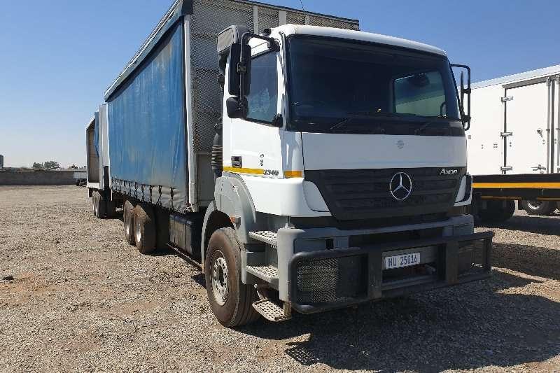 Mercedes Benz Curtain side trucks 2010 Mercedes Benz Axor 3340 6X4 Freight Carrier 2010