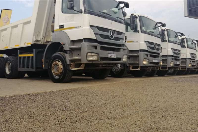 Mercedes Benz Tipper trucks 2014 MBenz Axor 3335K 10 Cube Tipper 2014