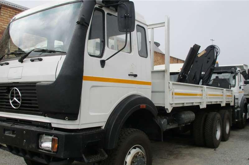 Mercedes Benz Truck 6x6 Mercedes 26 28 Crane 17 Ton/m 1988