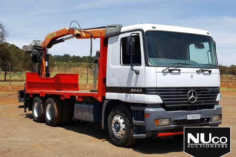 Mercedes Benz Truck Flat deck ACTROS 2643 WITH PALFINGER PK14080 BRICK GRAB