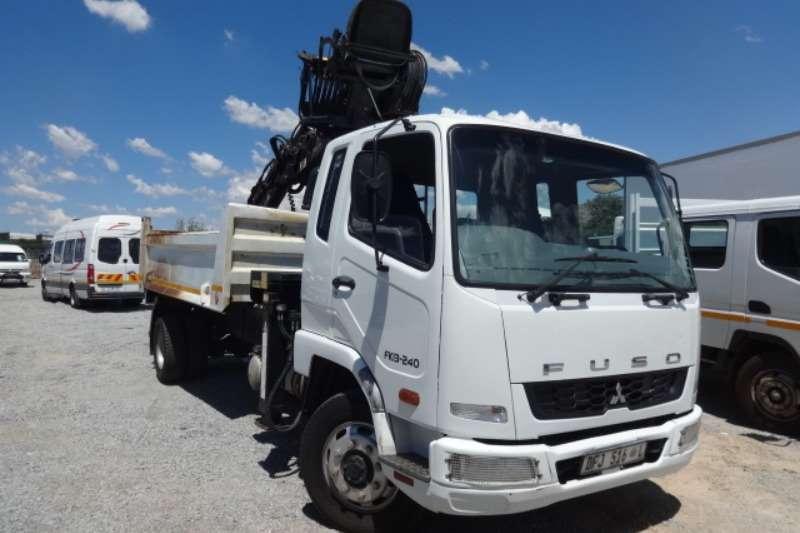 Mitsubishi Truck Fuso FK13.240 4m3 Tipper with Hiab Crane 2015