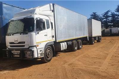 Nissan Nissan GW 26 490/ draw bar trailer Box trucks