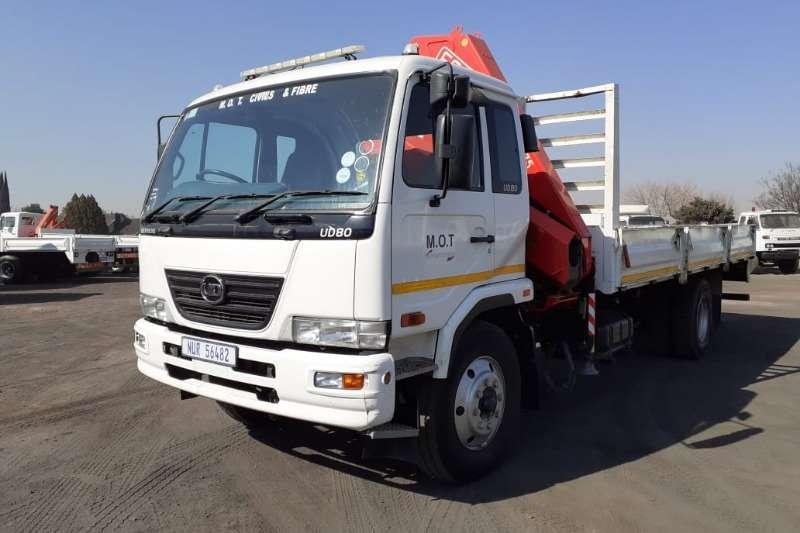 Nissan Dropside NISSAN UD80 D DROPSIDE WITH FA81 F175 CRANE Truck