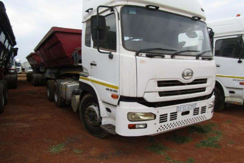 Nissan Truck-Tractor Double axle UD GW26.410 + 10 CUBIC TRAILER 2019
