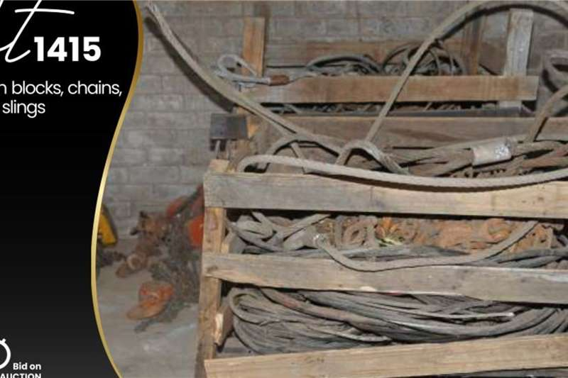 Chain block, Chains, Steel slings Other
