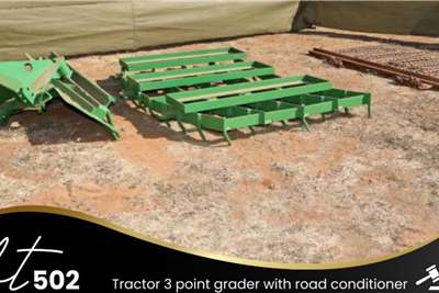 Tractor 3 point grader with road conditioner Other
