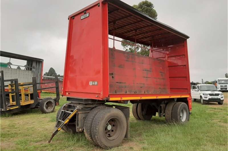 Other Trailers Drawbar Double Axle Tautliner Trailer 1989