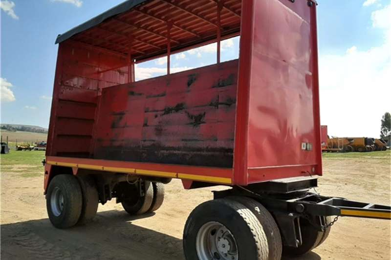 Other Trailers Drawbar Tautliner Double Axle Beverage Trailer 1983