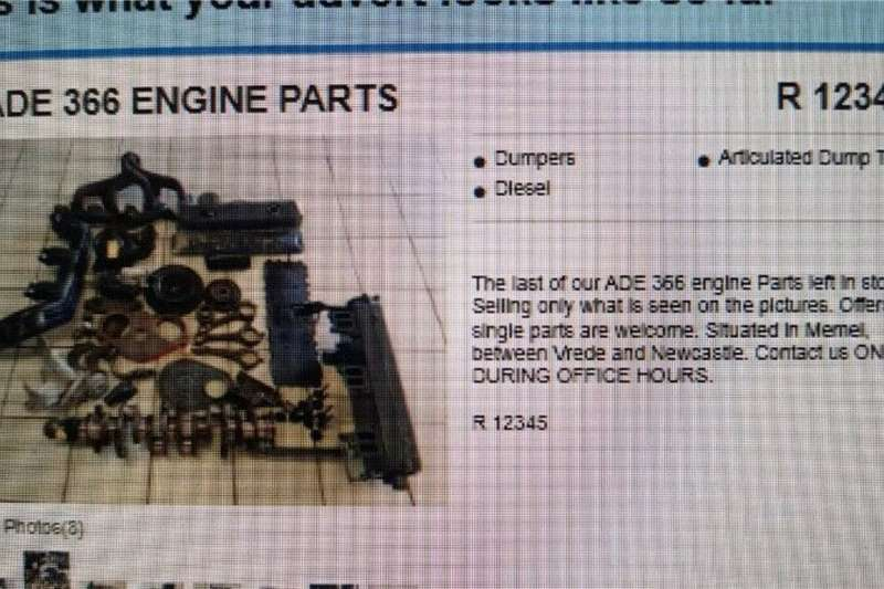 Other ADE 366 Engine Parts Truck