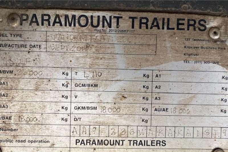 2019 Paramount  6/12 Superlink Flatdeck Trailer