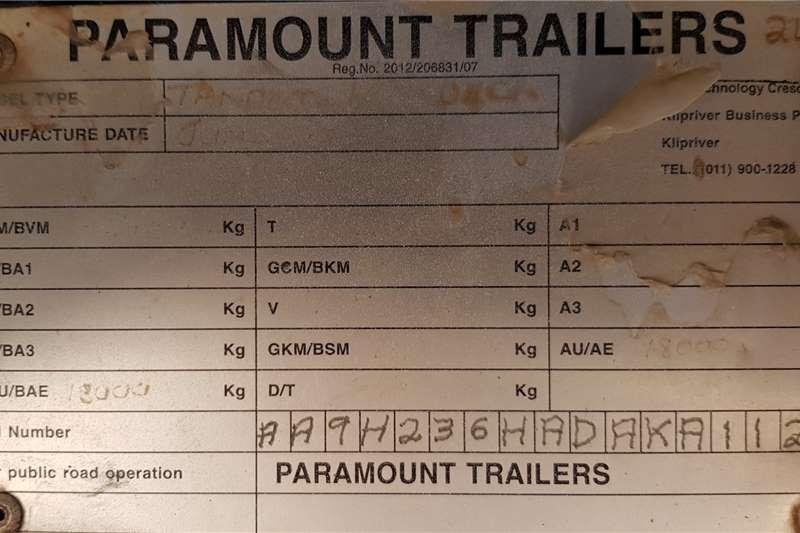 Paramount Superlink 6/12 Fladeck. Mechanical Suspension Trailers