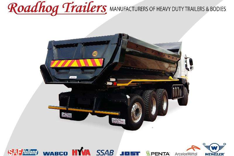 Roadhog Trailers End tipping 18 Cube Tipper Body 2019