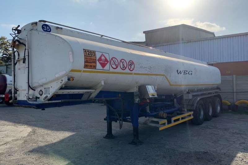 Rosbys Trailers Alluminium tanker 32000L Tri Axle Fuel Tanker