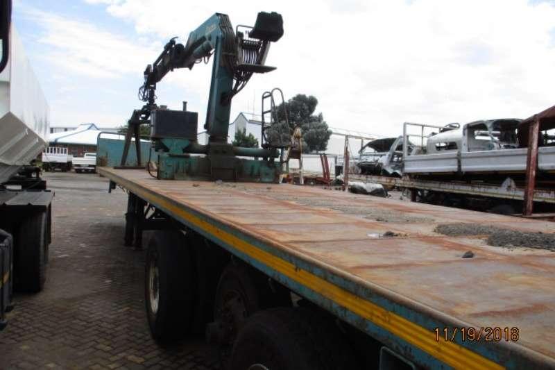 SA Truck Bodies Trailers Crane trailer SA TRUCK BODIES WITH COPMA 150 CBRICK GRAB 2003