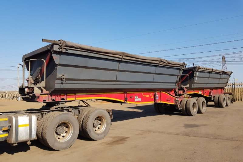 SA Truck Bodies Trailers Side Tipper 2 x SATB Interlink Sidetipper 45Cube 2013