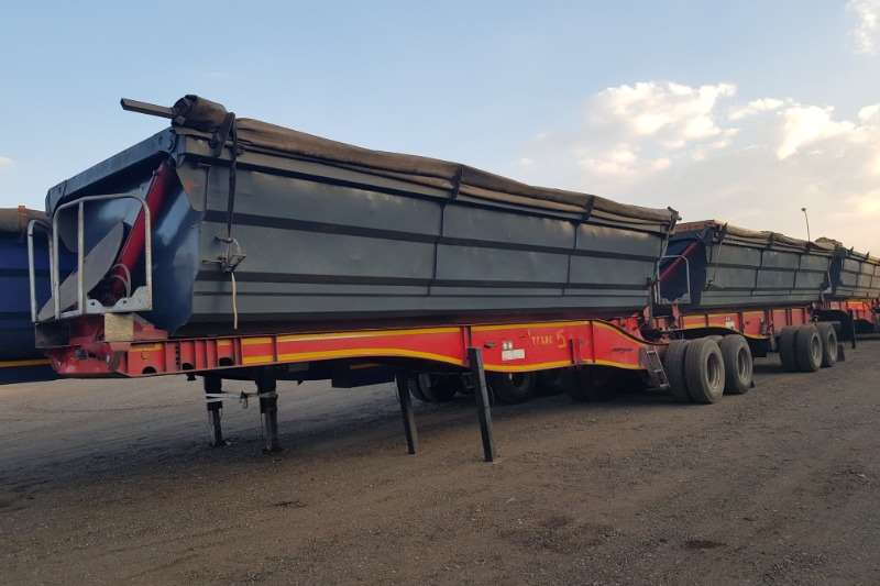 SA Truck Bodies Trailers Side Tipper 3 X SATB Interlink Sidetipper 45Cube 2013