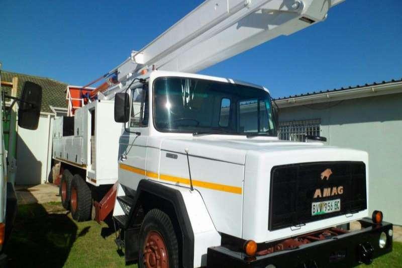 Samag Dropside trucks 120 Live Line 6x4 Cherry Picker 17 m 1987