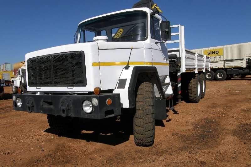 Samag Dropside trucks Samag 120 Dropside Palfinger Crane 1989