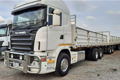 Scania R500 6x4 Rigid with 900mm drop Side Body + Trailer Dropside trucks