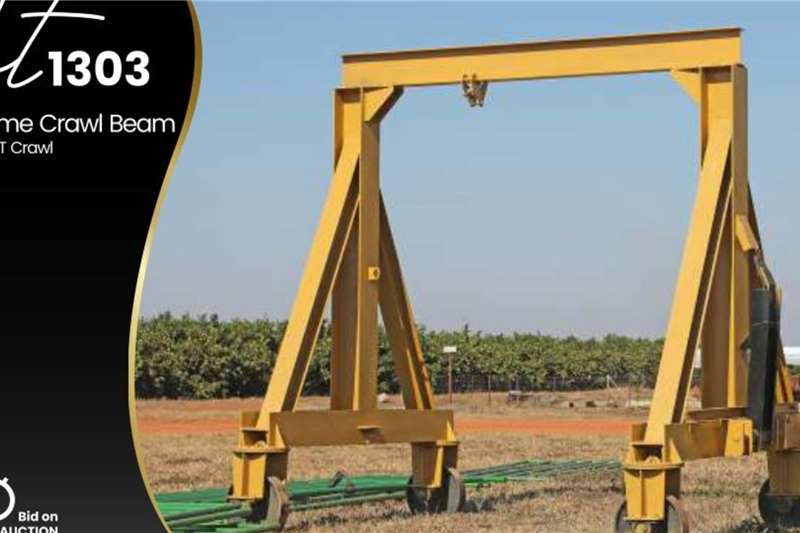 Frame crawler beam Structures and dams