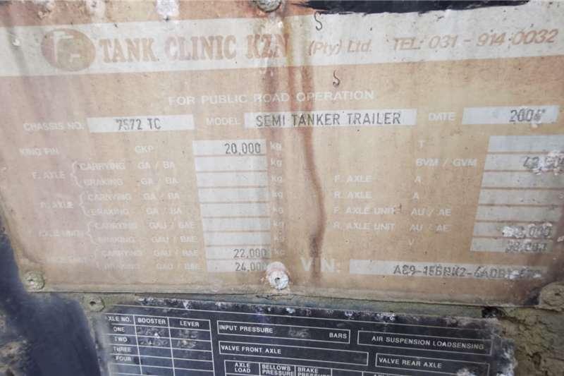 Tank Clinic DOUBLE AXLE SEMI TANKER (LOC: DBN) Trailers