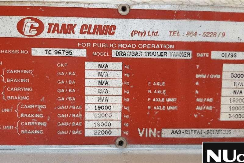 Tank Clinic TANK CLINIC DRAWBAR TANKER TRAILER Trailers