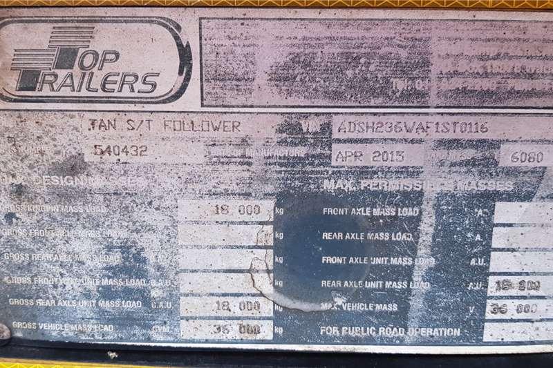 Top Trailer Side tipper 40m3 ex Fleet, Excelent Trailers