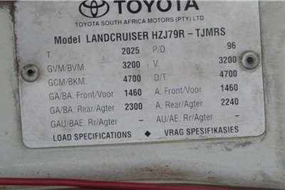 Toyota Toyota Landcruiser 79R 4x4 LDV SC LDVs & panel vans