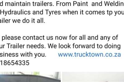 Service, Maintenance and Repair on all Trailers Trailers
